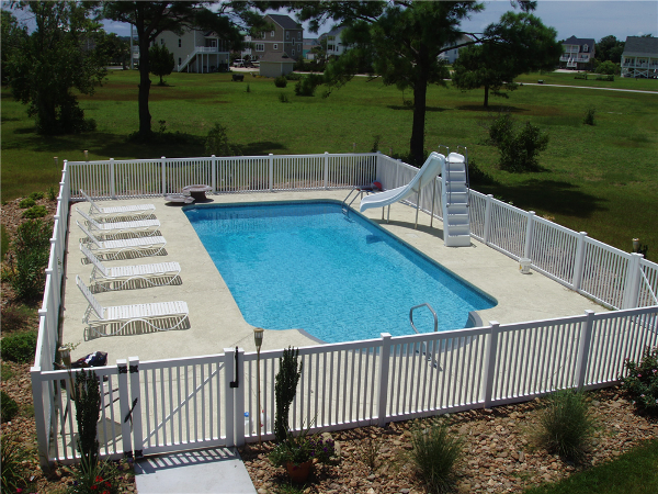 Roman End pool with Cool Deck