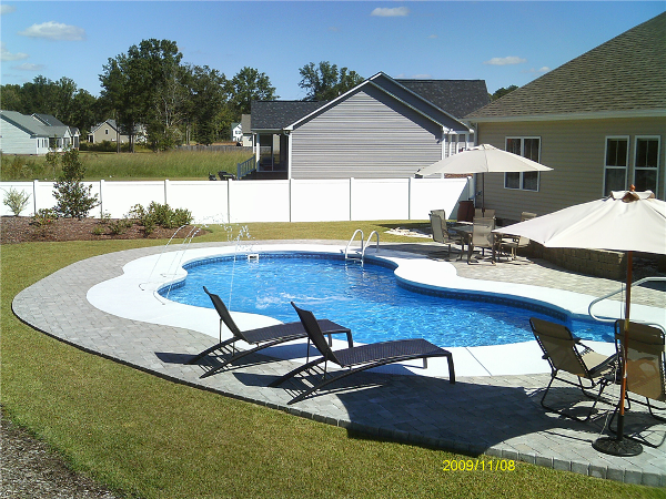 Oasis with Cool Deck and Pavers. Deck Jets