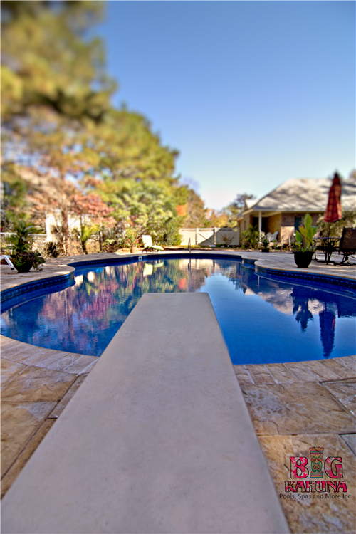 Mountain Pond with Diving Board, Artistic Pavers