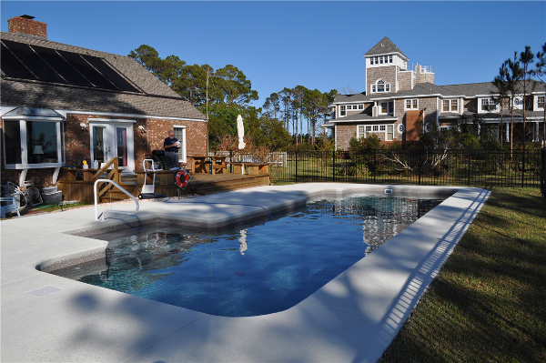 Lap Pool with Solar Heating