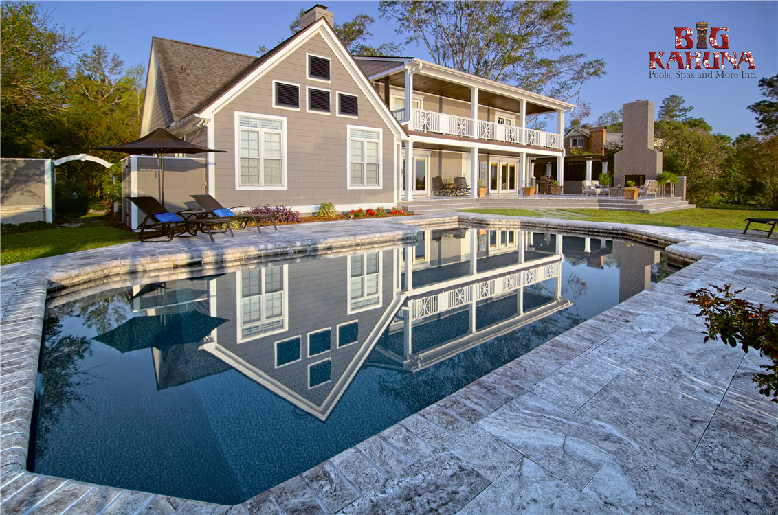 We take an ordinary vinyl liner pool and backyard porch and turn it into a Luxury Retreat