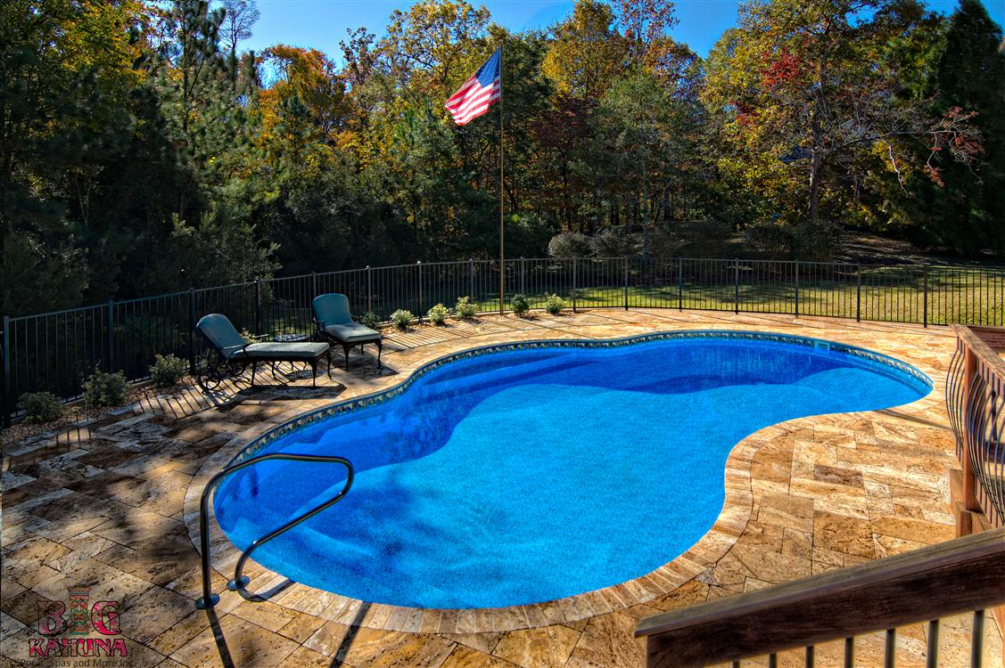 Backyard Makeover- Pool, Travertine, Fireplace, IPE (brazilian Walnut)- deck, pergola, kitchen