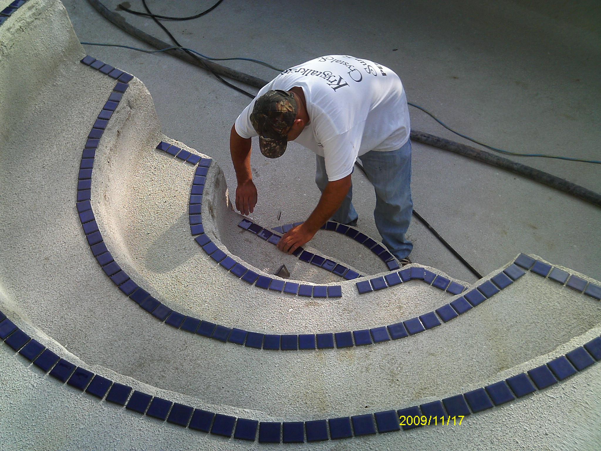Setting Tile on Steps