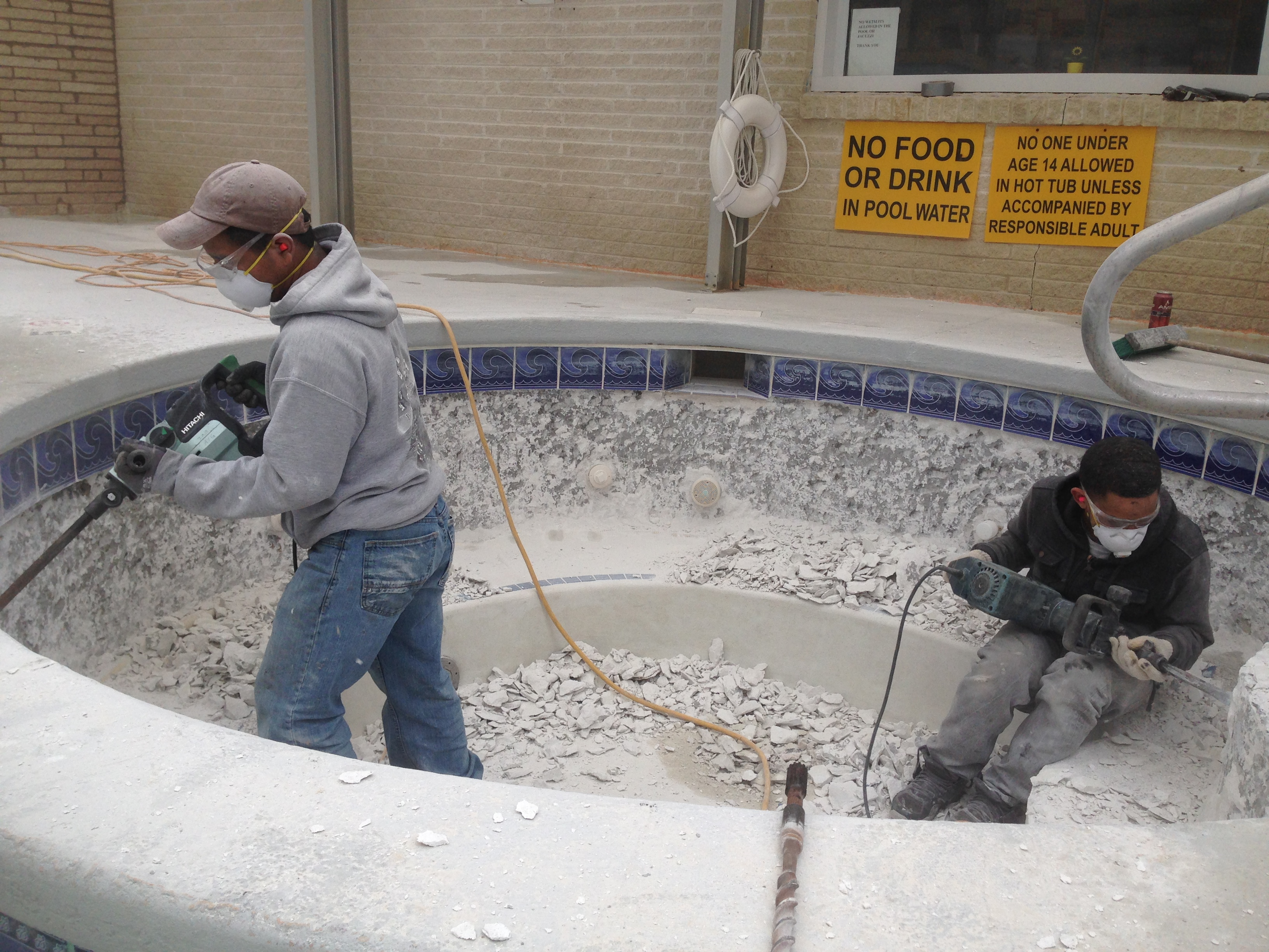 Removing all plaster