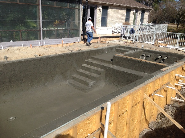 The Pool and Hot Tub Shell is finished