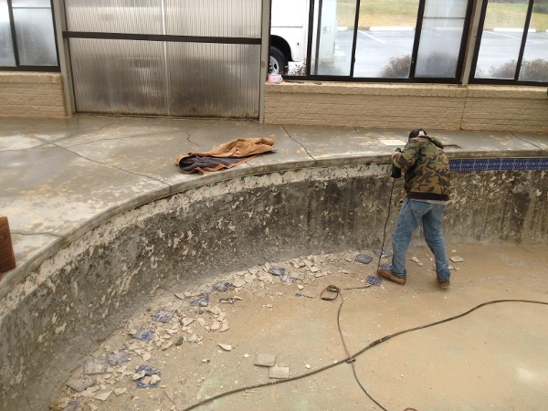Removing Pool Plaster, and Deck coatings