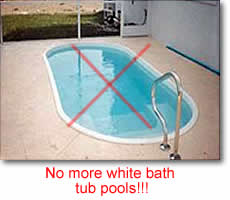Does a fiberglass pool need tile describe the image ppazfo